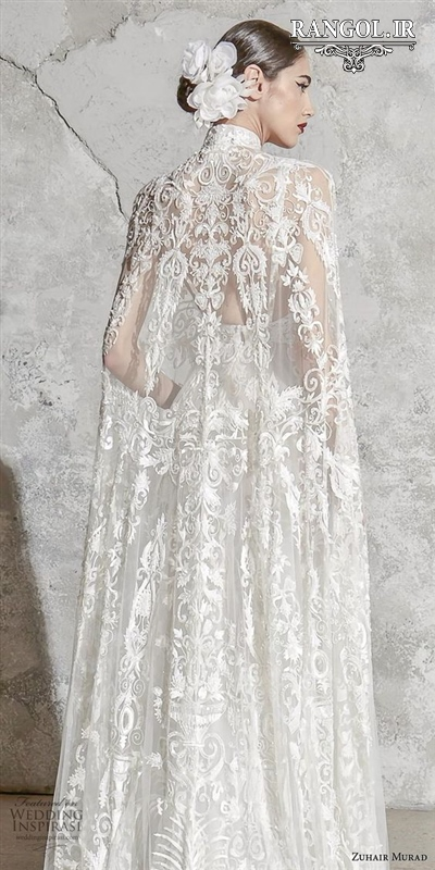 مدل لباس عروس شنل ترند جدید لاکچری رنگل rangol
