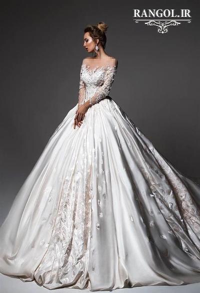 مدل لباس عروس دامن پفی پرنسسی شیک جدید رنگل rangol