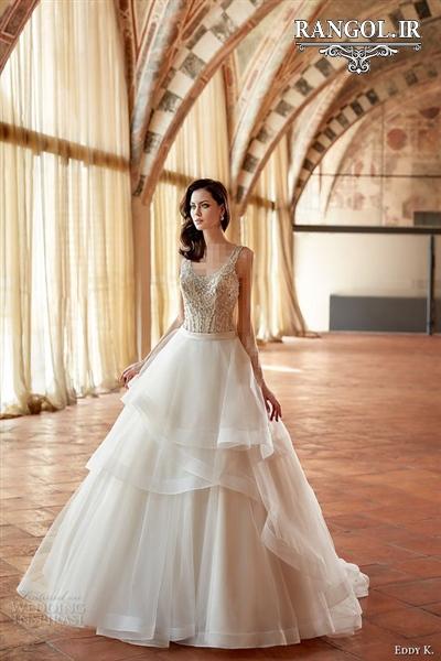 مدل لباس عروس لایه لایه شیک ایرانی لاکچری ترند مد جدید رنگل rangol