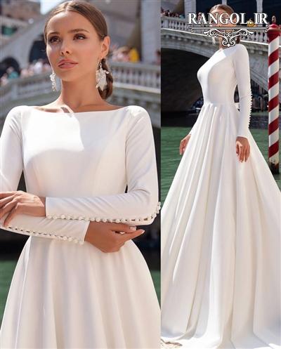 لباس عروس کرپ1 rangol